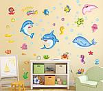 Інтер'єрна наклейка - Підводний світ (90х60см), фото 2