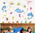 Інтер'єрна наклейка - Підводний світ (90х60см), фото 6