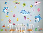Інтер'єрна наклейка - Підводний світ (90х60см), фото 8