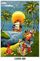 Ковёр детский цветной с рисунком Пират разные