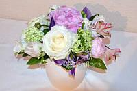 Украшение цветами свадебного зала, цветочные композиции на столы, украшение живыми цветами