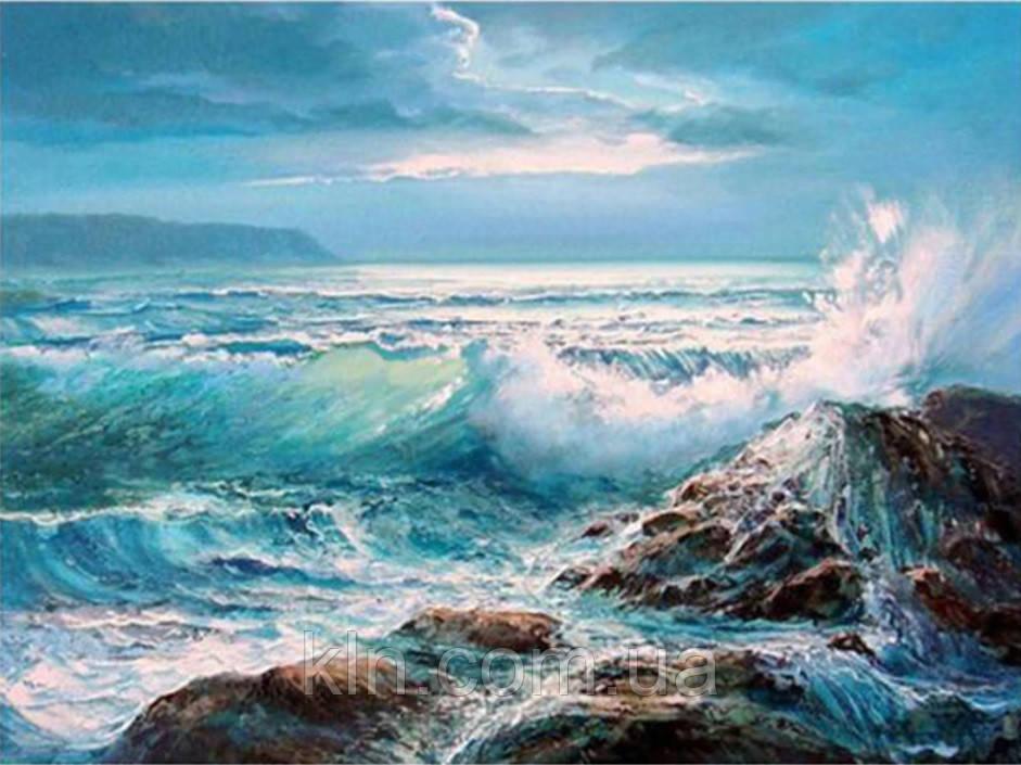 Набір для викладки алмазної вишивки Море хвилюється 40 х 30 см (арт. FS819)