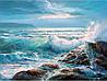 Набор для выкладки алмазной вышивки Море волнуется 40 х 30 см (арт. FS819)