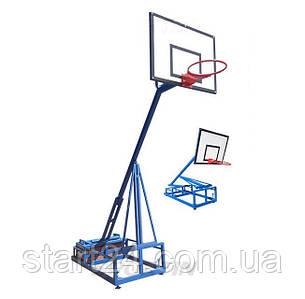 Стійка баскетбольна з щитом 1200х900мм, кільцем і сіткою