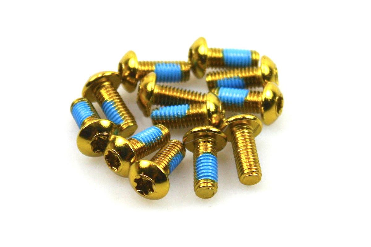 Болты для роторов, Alligator, золотые (12 шт)