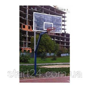 Стойка баскетбольная уличная с щитом из оргстекла 1800х1050мм
