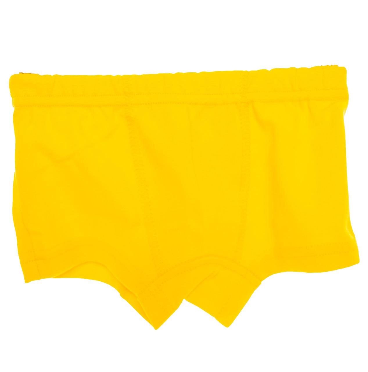 Детские трусы шорты\боксеры Атлет желтые