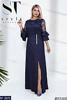 Шикарное платье в пол Марианн 48-60 р 4 цвета