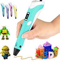 3D Ручка LCD RP100 3д ручка для рисования (цвет голубой)