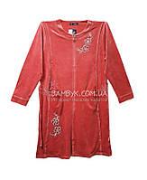 Birlik велюровый женский халат большого размера №7966 (4XL)