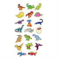Набор магнитных фигурок Viga Toys Динозавры 20 штук (20181002V-047)