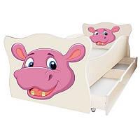 Кровать в садик Бегемотик 70x140 cм детская (цена без ящиков), фото 1