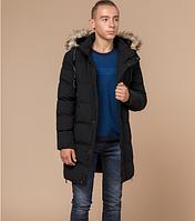 Удлиненная зимняя куртка Braggart Youth черная топ реплика