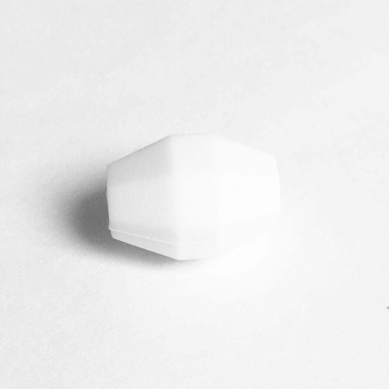 Бочка (белый)  бусина из силикона