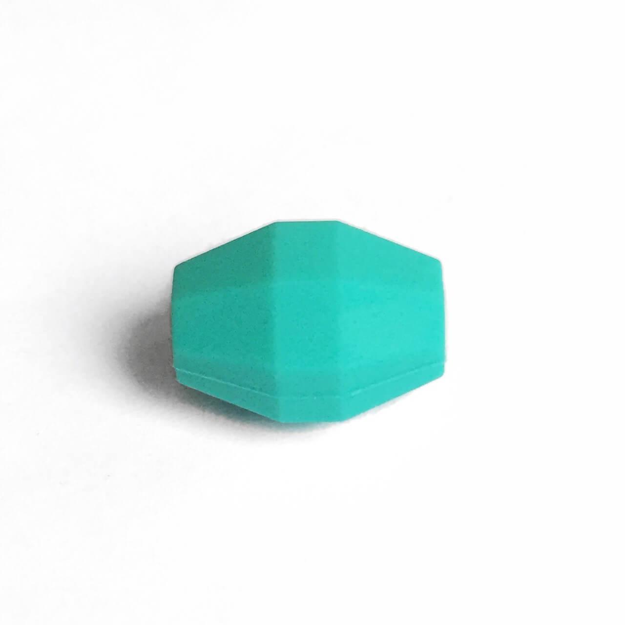 Бочка (бирюза)  бусина из силикона