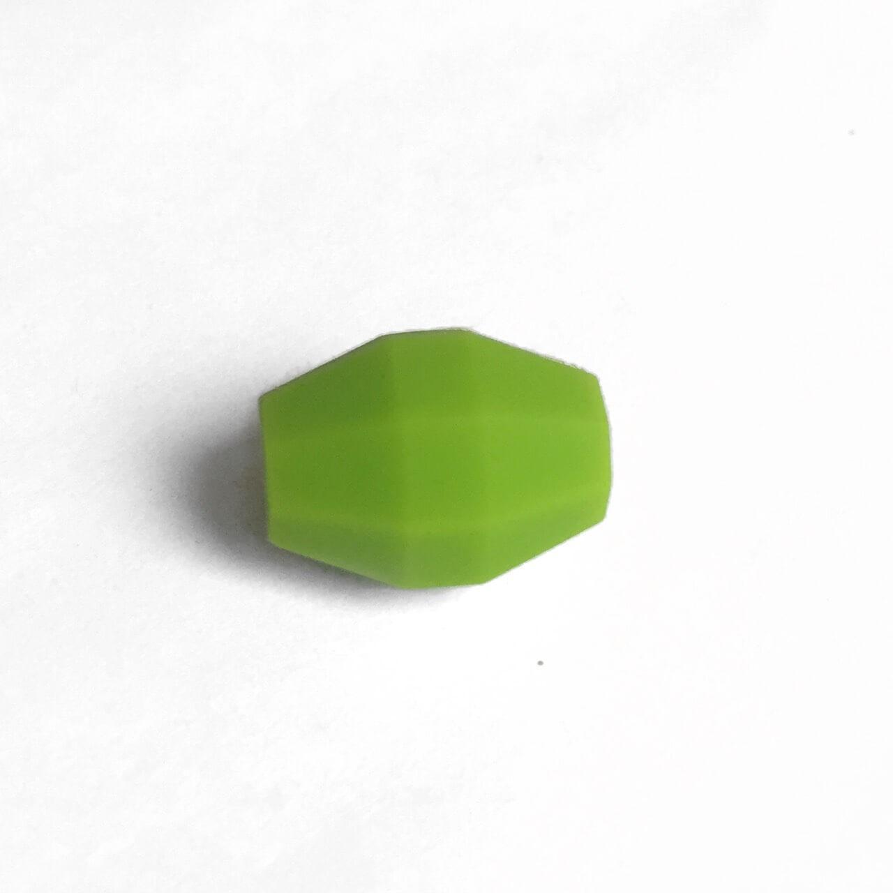 Бочка (зеленый)  бусина из силикона
