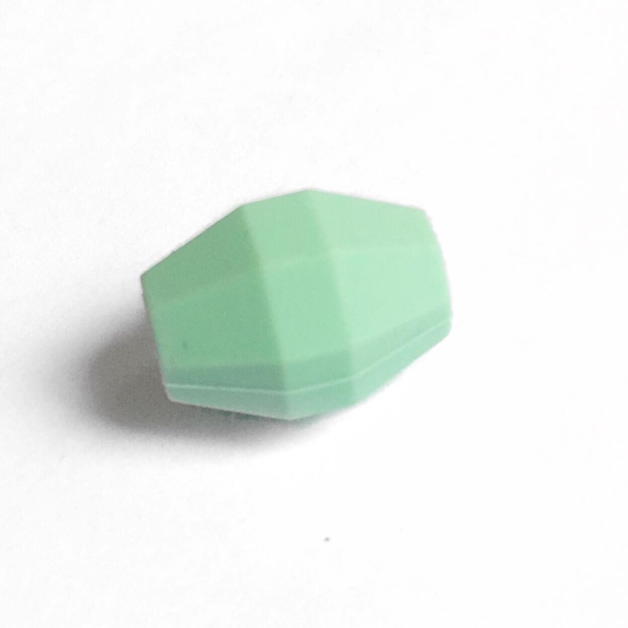 Бочка (мята)  бусина из силикона