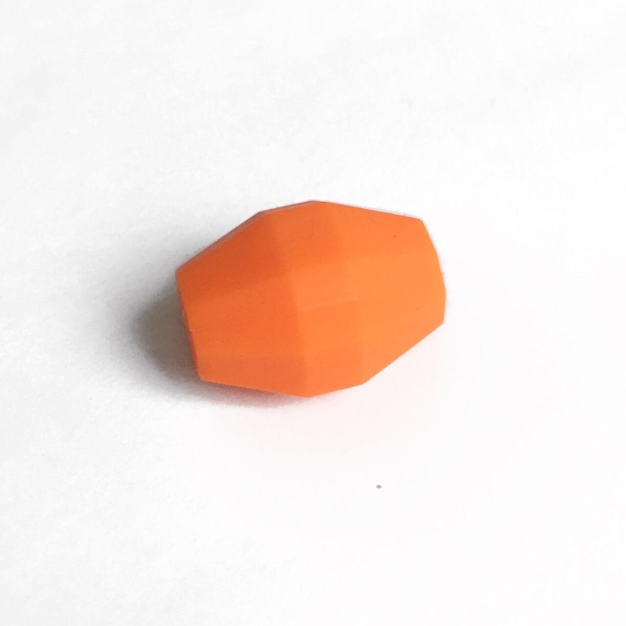 Бочка (оранжевый)  бусина из силикона