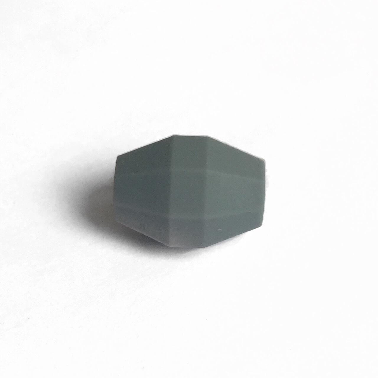Бочка (темно серый)  бусина из силикона