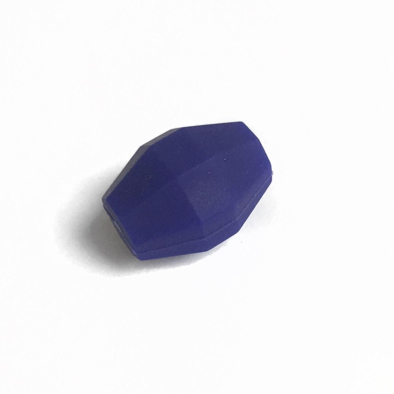 Бочка (темно синий)  бусина из силикона