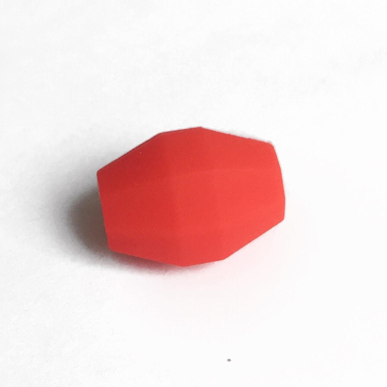 Бочка (красный)  бусина из силикона