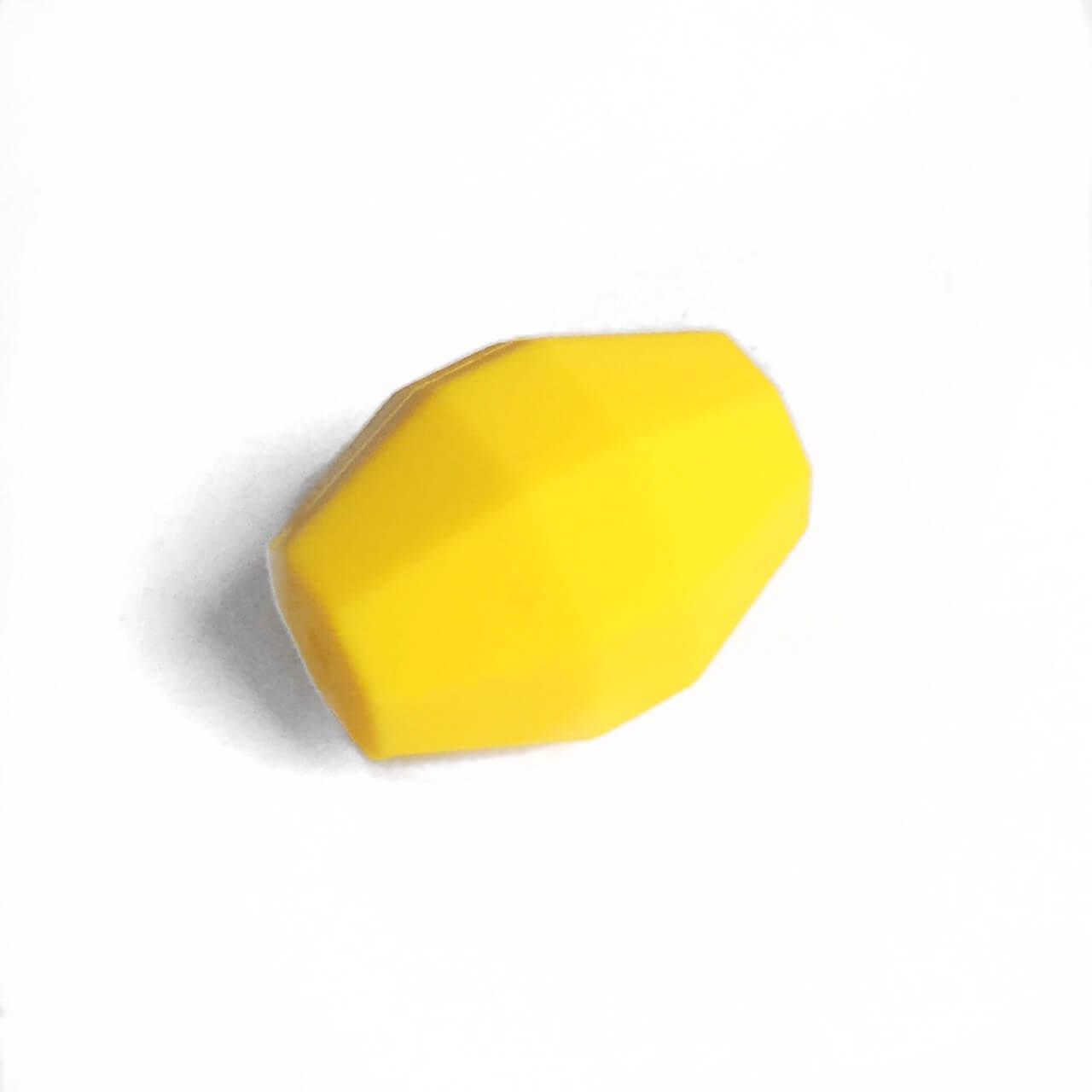 Бочка (желтый)  бусина из силикона