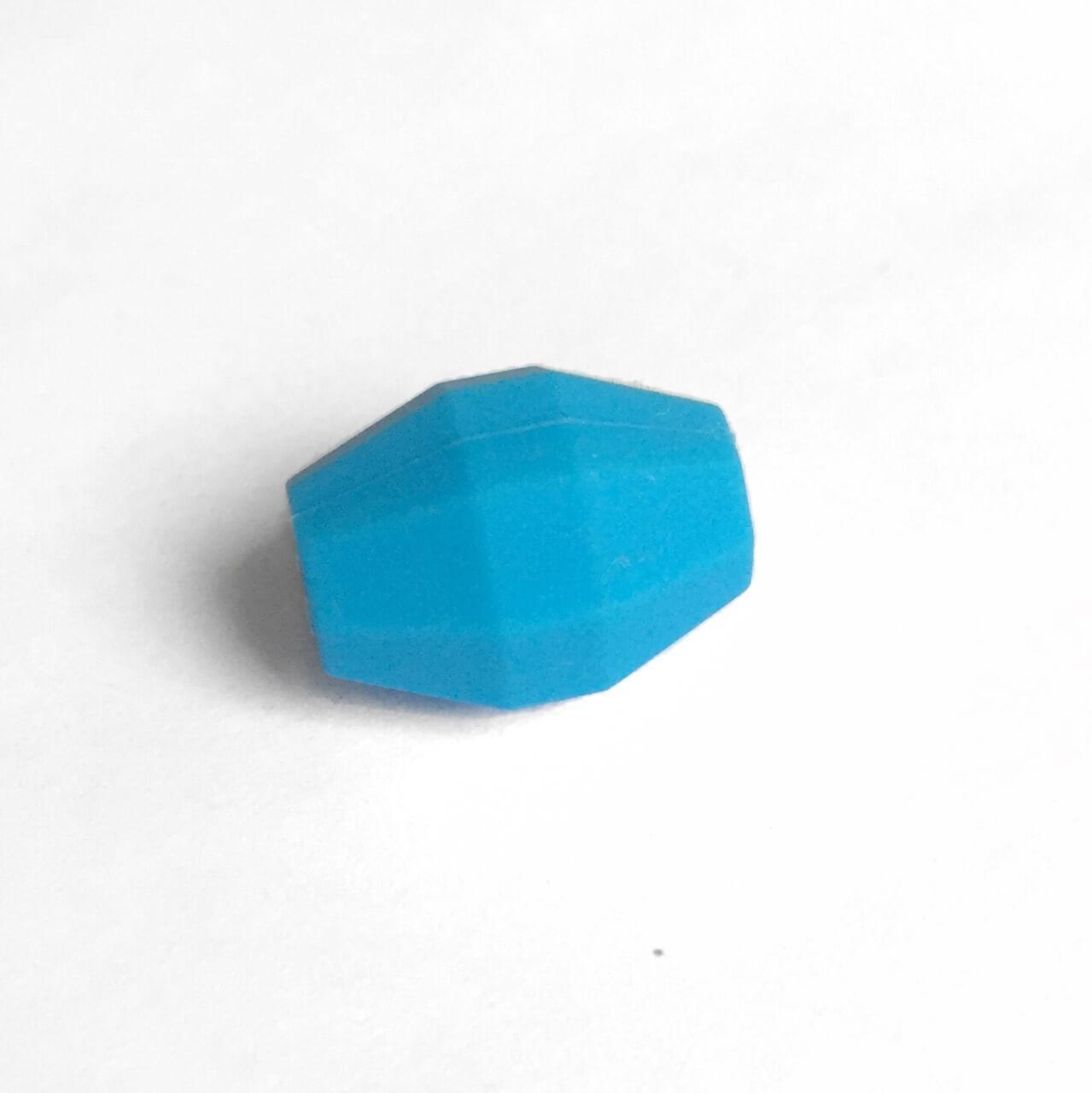 Бочка (голубой)  бусина из силикона