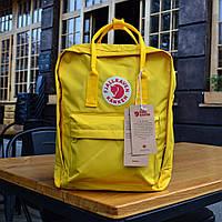 Рюкзак  Fjallraven Kanken, желтого цвета. Реплика