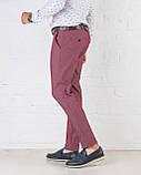 Мужские брюки зауженные Slim Fit слим фит бордовые, фото 2