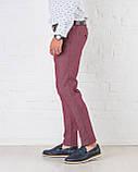 Мужские брюки зауженные Slim Fit слим фит бордовые, фото 3