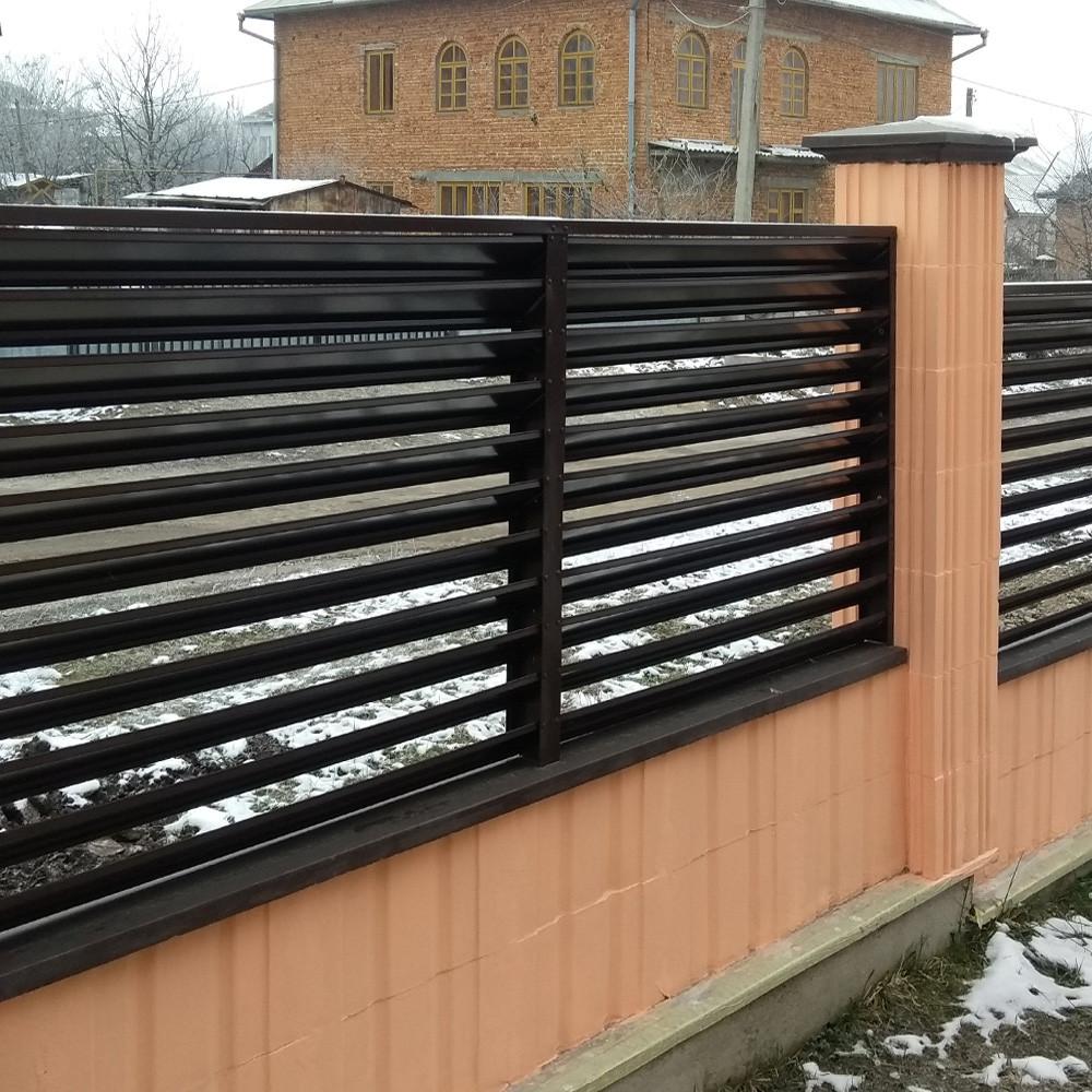 Двухслойный забор жалюзи двухстороннее покрытие 80 / 90