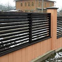 Двухслойный забор жалюзи двухстороннее покрытие 80 / 90, фото 1