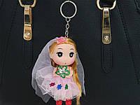 Брелок BR-23-4-9 невеста в цветах розовый