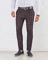 Мужские брюки зауженные Slim Fit слим фит клетка
