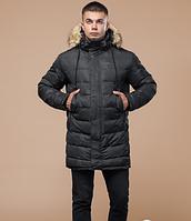 Зимняя молодежная куртка с опушкой  Braggart Youth серая топ реплика