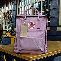 Рюкзак  Fjallraven Kanken, светло-розового цвета. Реплика