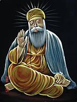 Гуру Нанак. Картина-роспись маслом по бархату