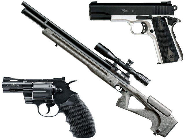 Винтовки, пистолеты, револьверы