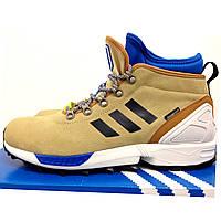 Ботинки мужские зимние оригинальные adidas ZX FLUX из замша S82930 цвет: бежевый