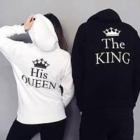 Парные худи. Парные толстовки. King Queen . Король и королева
