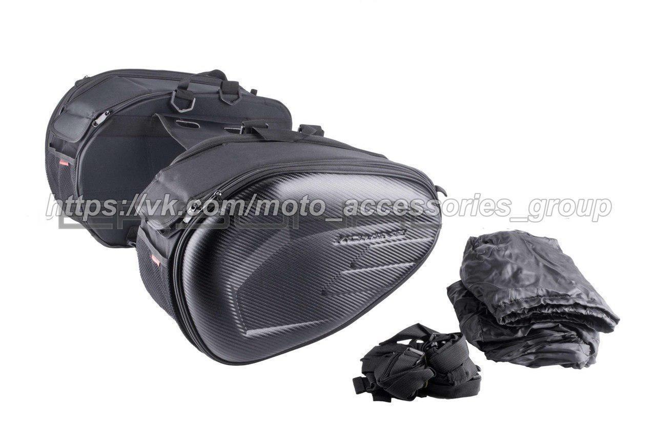 Сумки, кофры жесткие боковые Kamine Carbon на мотоцикл