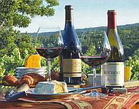 Набор для творчества алмазная выкладка Вино и сыр 40 х 50 см (арт. FS823), фото 1