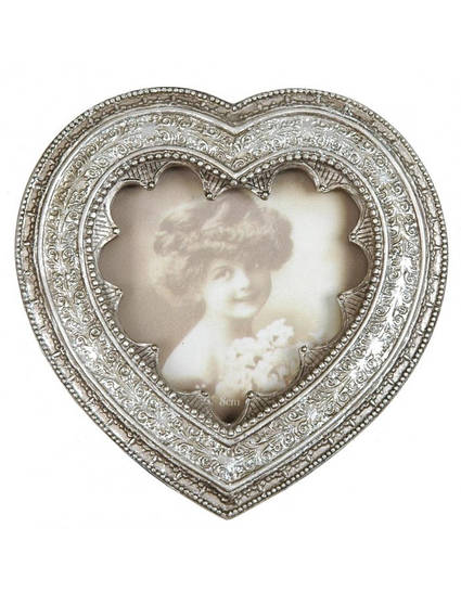 Фоторамка Серце темно-серая 2765-CE 12*12 см Clayre & Eef