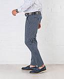 Мужские брюки зауженные Slim Fit слим фит клетка, фото 2