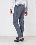 Мужские брюки зауженные Slim Fit слим фит клетка, фото 3