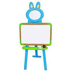 Мольберт детский и магнитная доска для рисования Limo Toy 0703 UK-ENG Green Blue