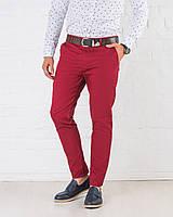 Мужские   брюки зауженные Slim Fit слим фит  красные