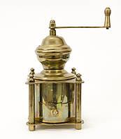 Винтажная ручная механическая кофемолка, бронза, латунь, Европа, фото 1