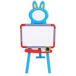 Мольберт 2 в 1 Доска знаний магнит азбука Limo Toy 0703 UK-ENG Red Blue