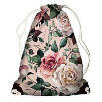 Рюкзак мешок 33х45см розы